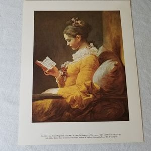 """""""A Young Girl Reading"""" Print"""